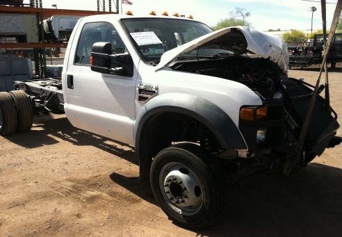 Dismantling Ford Super Duty F450 F550 Trucks